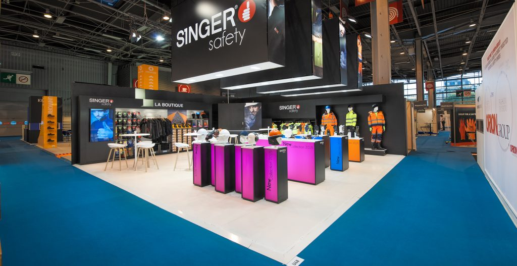 Stand SINGER Safety - Düsseldorf (Allemagne) - A+A - Conseil Consulting